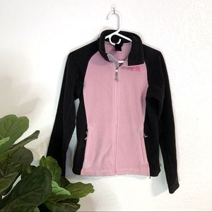 The North Face pink fleece breast cancer jacket